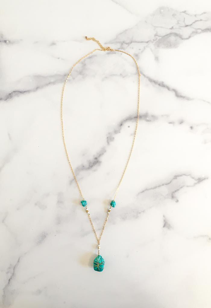 Not So Tiny Turquoise Necklace