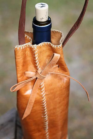 Artisan Leather Bottle Holder