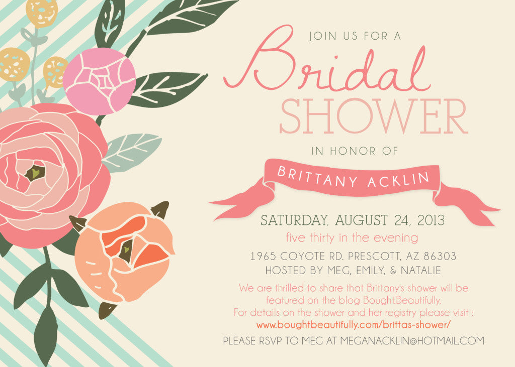 Britta's shower invite