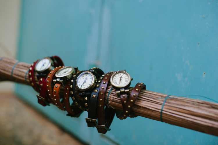 She's worth it, leather wrap watch from Sak Saum