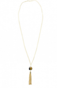 Tiger eye Tassel necklace