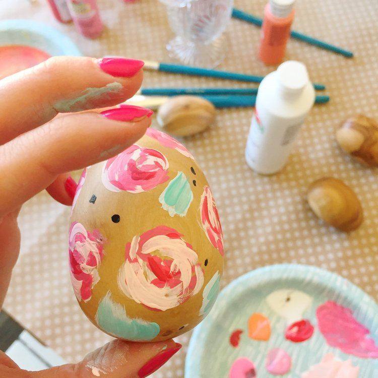 Hand painted Hand Carved eggs