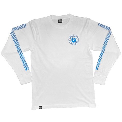 BROADWAY LONG SLEEVE SHIRT (WHITE/BLUE)
