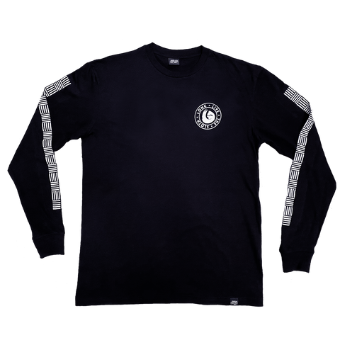 BROADWAY LONG SLEEVE SHIRT (BLACK/WHITE)