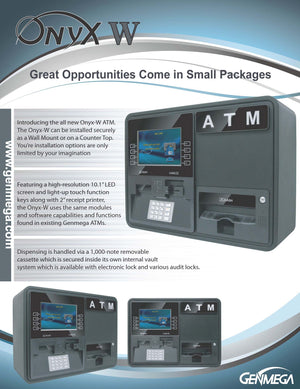 GENMEGA ONYX-W ATM BROCHURE PAGE 1