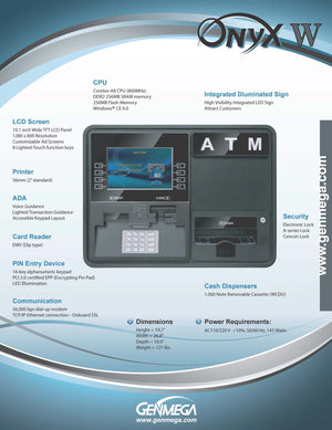 GENMEGA ONYX-W ATM BROCHURE PAGE 2