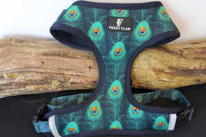 Prancing Peacock Neck Adjustable Harness