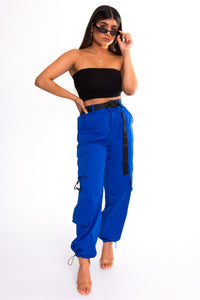 Deep Blue Cargo Pants