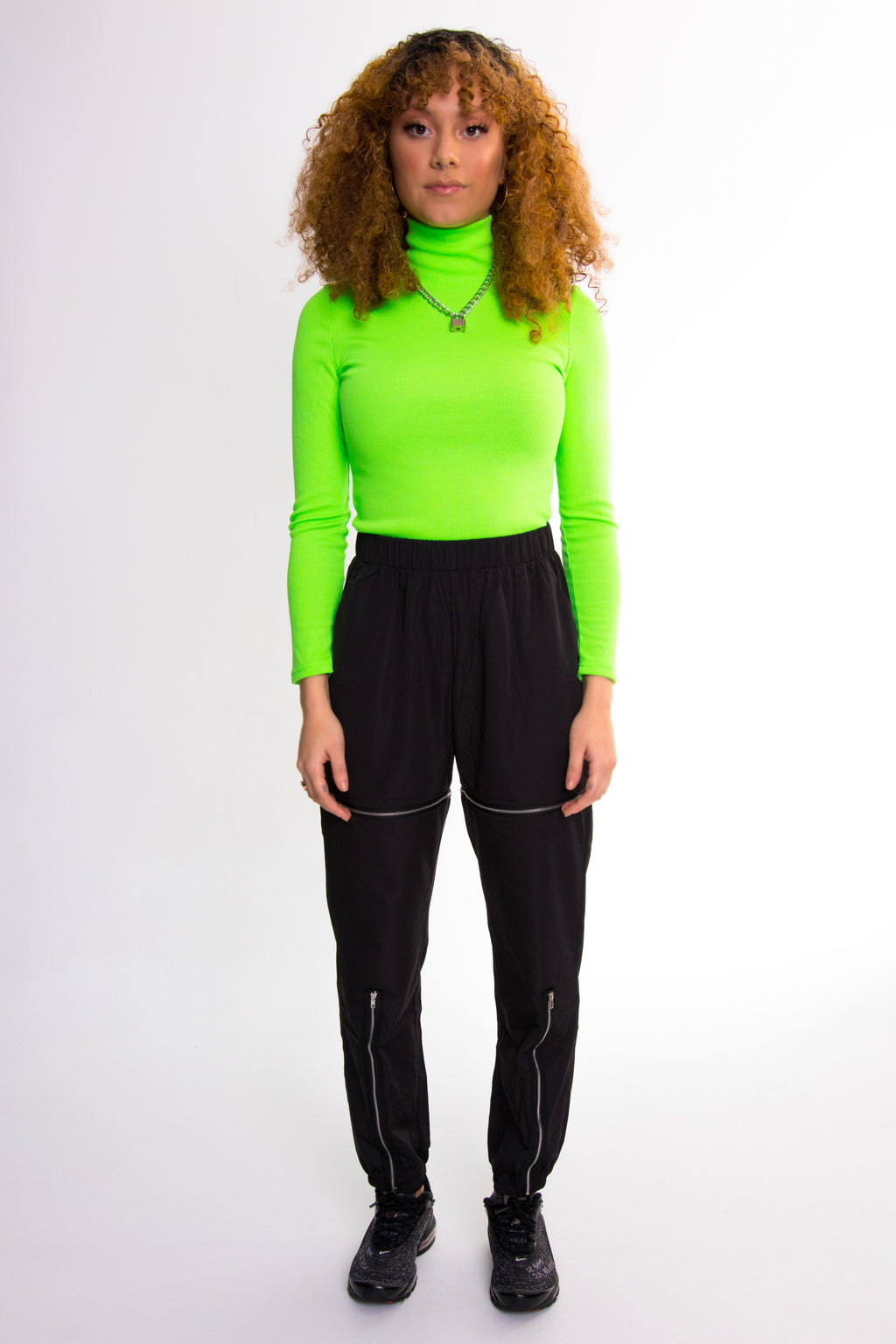 Slime Green Turtleneck