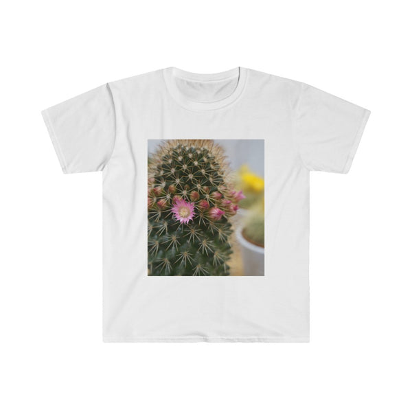 Flowering Cactus Men's Fitted Short Sleeve Tee