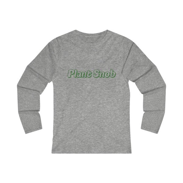 Plant Snob Women's Fitted Long Sleeve Tee
