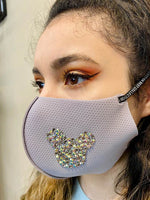 Rhinestone Mickey Mouse Face mask
