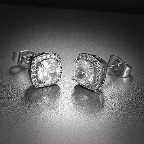 3.50 CTTW Cushion Cut CZ  Studs