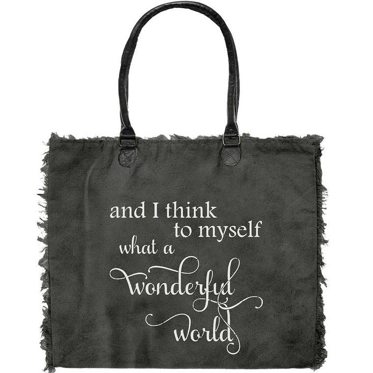 Market Tote - What a wonderful world