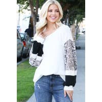 Leopard contrast Sleeve