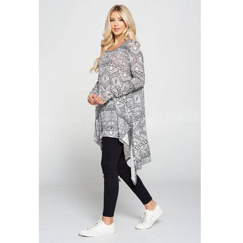 Hi Lo Tunic LS w side slits
