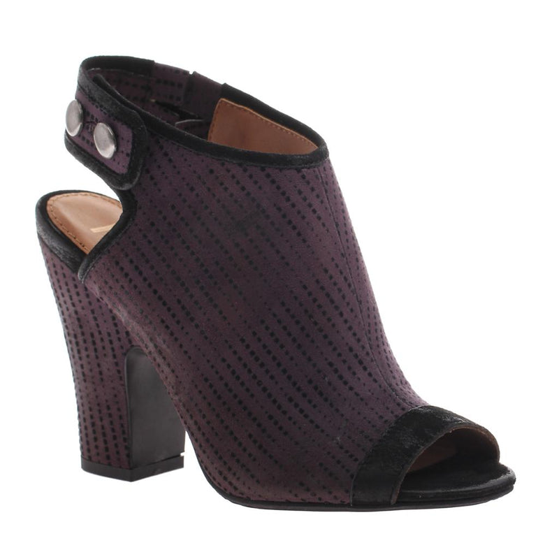 NICOLE - LAYLA in PURPLE Open Toe Booties