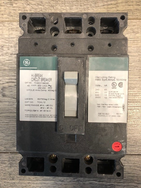 General Electric Breaker THED136040