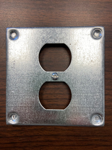 "BC8365 4"" Square Duplex Receptacle Cover"