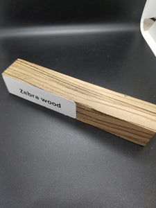 Zebra Wood Pen Blank - Oakbrook Wood Turning Supply