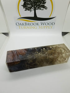 Call block hybrid russian olive burl - Oakbrook Wood Turning Supply