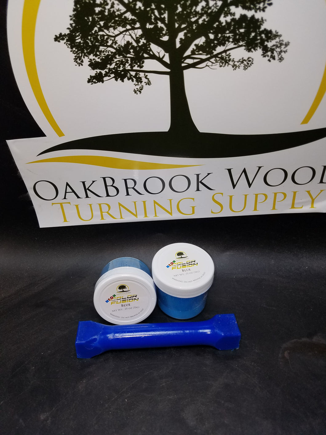 Color Fusion Neon Blue - Oakbrook Wood Turning Supply