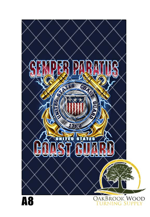 Label Cast Coast Guard - Oakbrook Wood Turning Supply