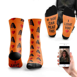 If You Can Read This I Love You Socks