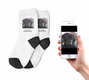 Kids Dog Photo Socks