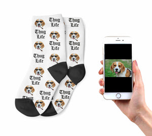 Kid Dog Thug Life Socks