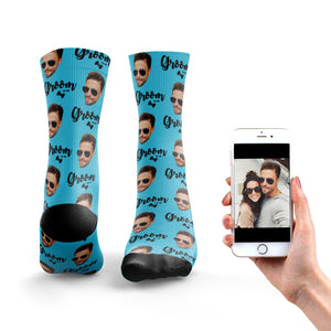 Groom To Be Photo Socks