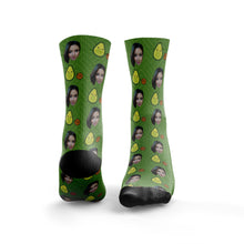 Cute Avocado & Stone Face On Socks