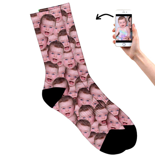 Multi Face Baby Socks