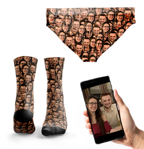 'Couple's Multi-Face' Matching Socks & Undies