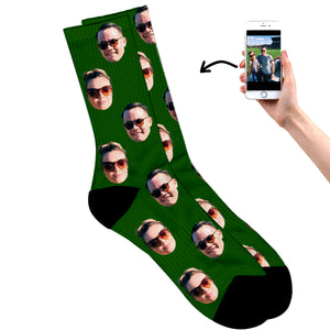 Couples Face On Socks