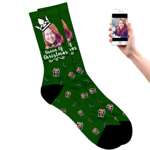 Queen of Christmas Socks