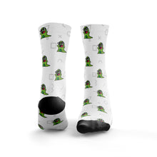 Cool Dinosaur In Glasses Pattern Socks