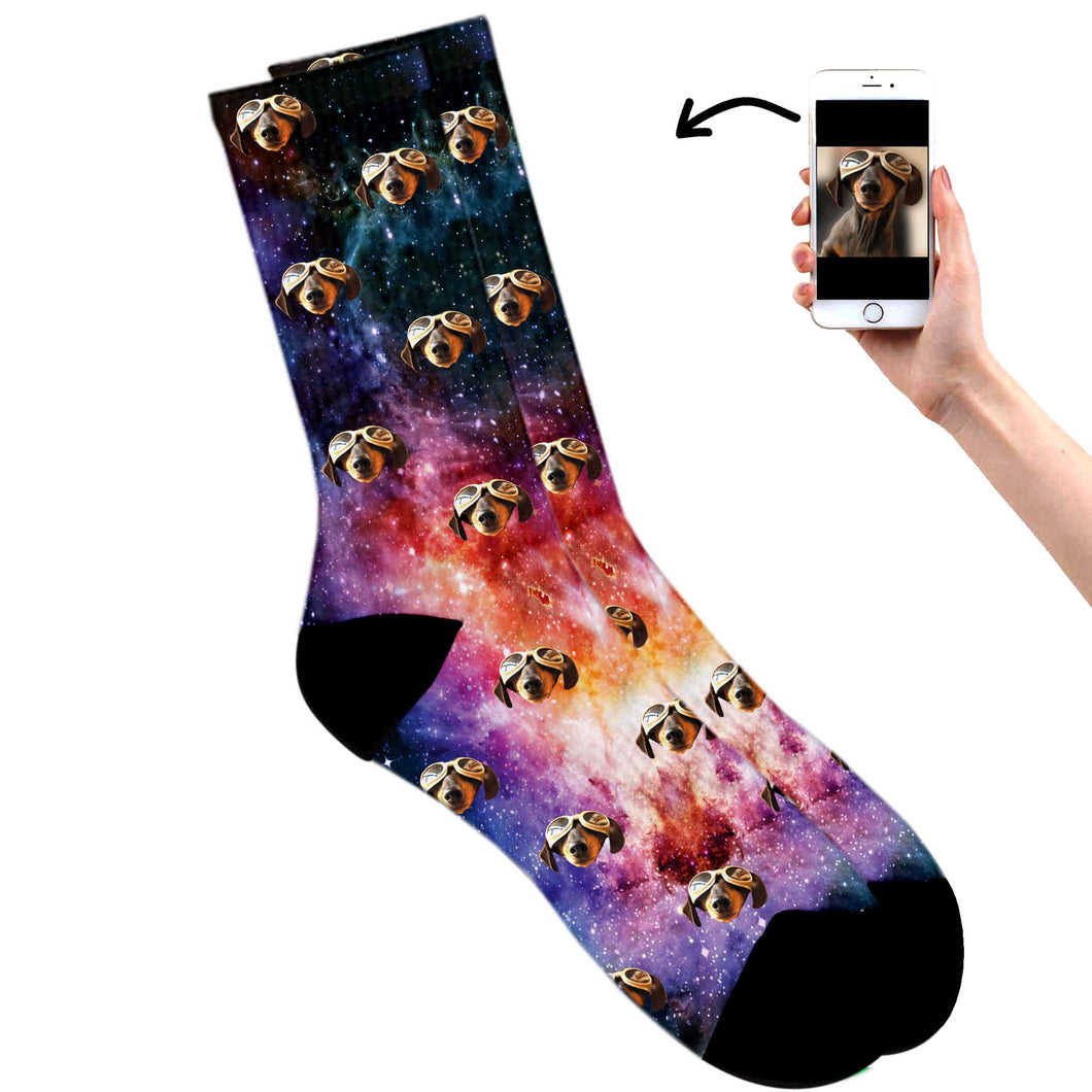 Galaxy Dog Socks