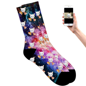 Galaxy, Taco and Pizza Socks