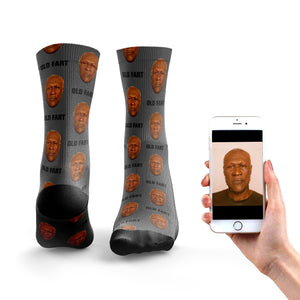 Face App Old Man Socks