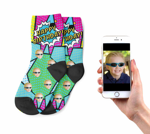 Kids Funky Birthday Socks