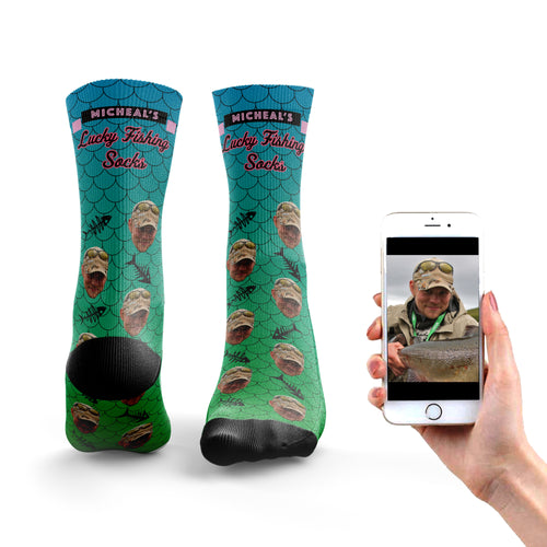 Lucky Fishing Socks (Name)