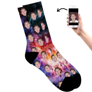 Galaxy Face Socks