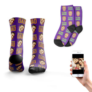 'Exhaus-dad' Matching Father & Son Socks