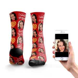 I Want You And Pizza Socks