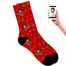 Merry Christmas Reindeer Socks