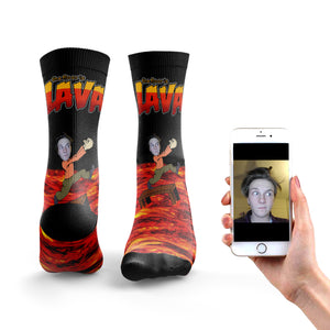 The Floor Is Lava Socks