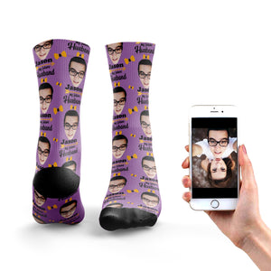 He's My Future Husband Photo Socks