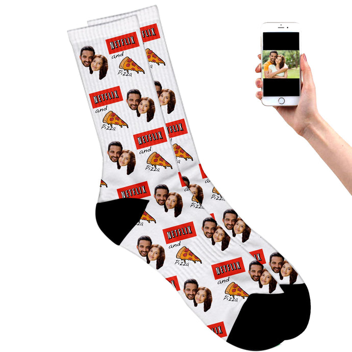 Netflix and Pizza Socks
