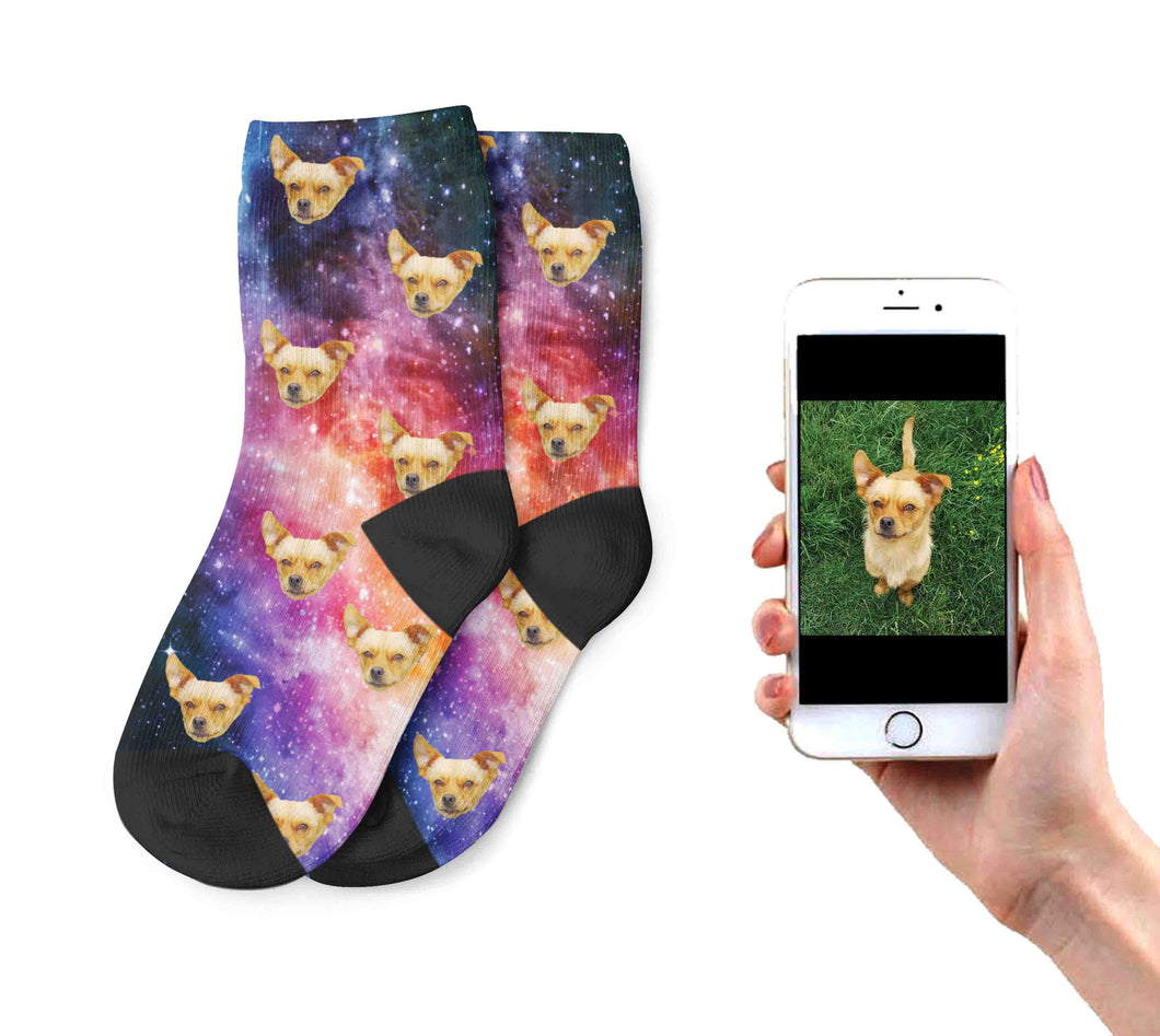 Kids Galaxy Dog Socks